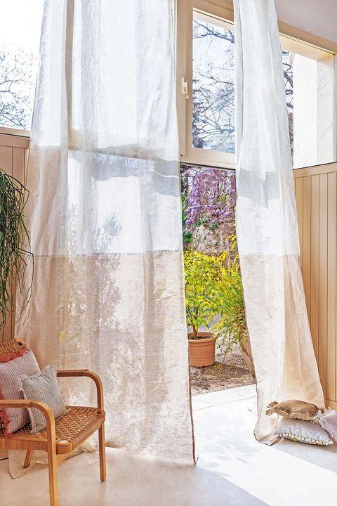 Cortinas: Visillos de lino de la colección Ibiza