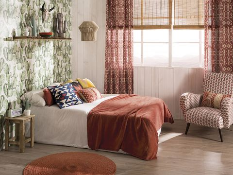 Furniture, Curtain, Room, Interior design, Bed, Bedroom, Bed frame, Window treatment, Bed sheet, Bedding,