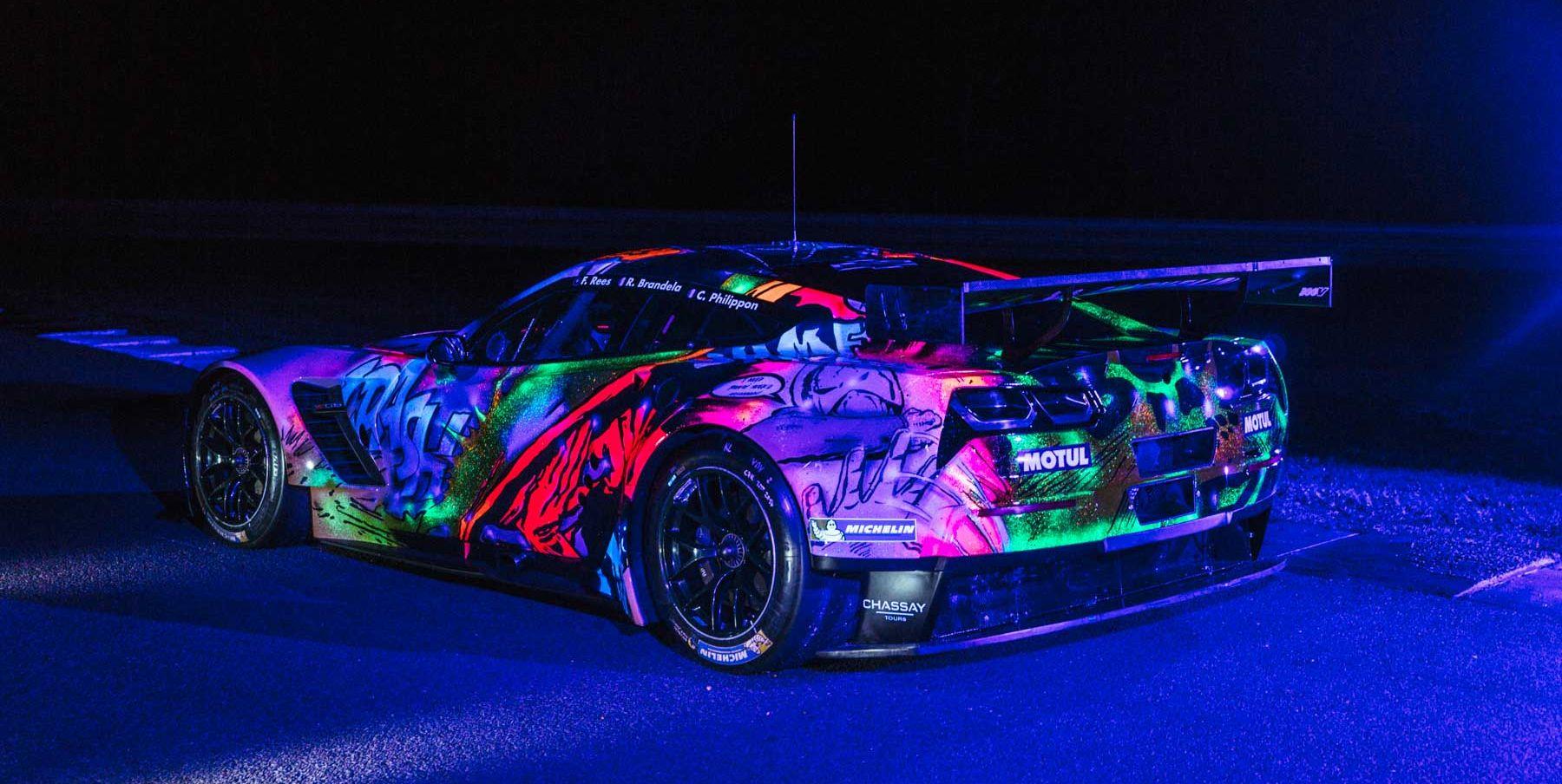 This Graffiti Covered Corvette Le Mans Race Car Is Beyond Cool