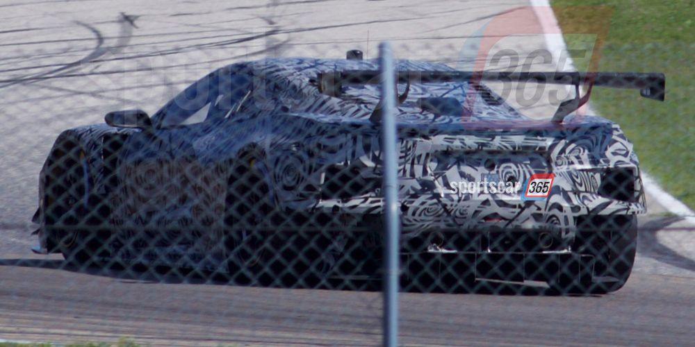 Mid-Engine Corvette Race Car: Spy Photos
