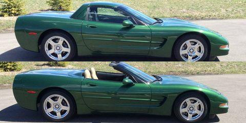 Unique Power-Folding Hard Top Corvette Convertible on Craigslist
