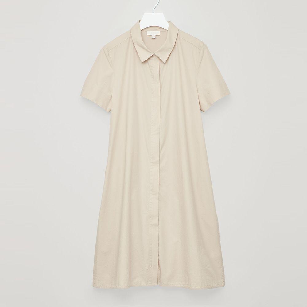 cos beige shirt dress