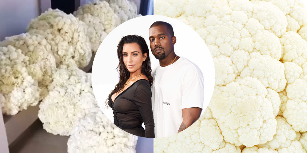 Everyone Thinks the Flowers Kanye West Gave Kim Kardashian for Their Anniversary Look Like Cauliflower