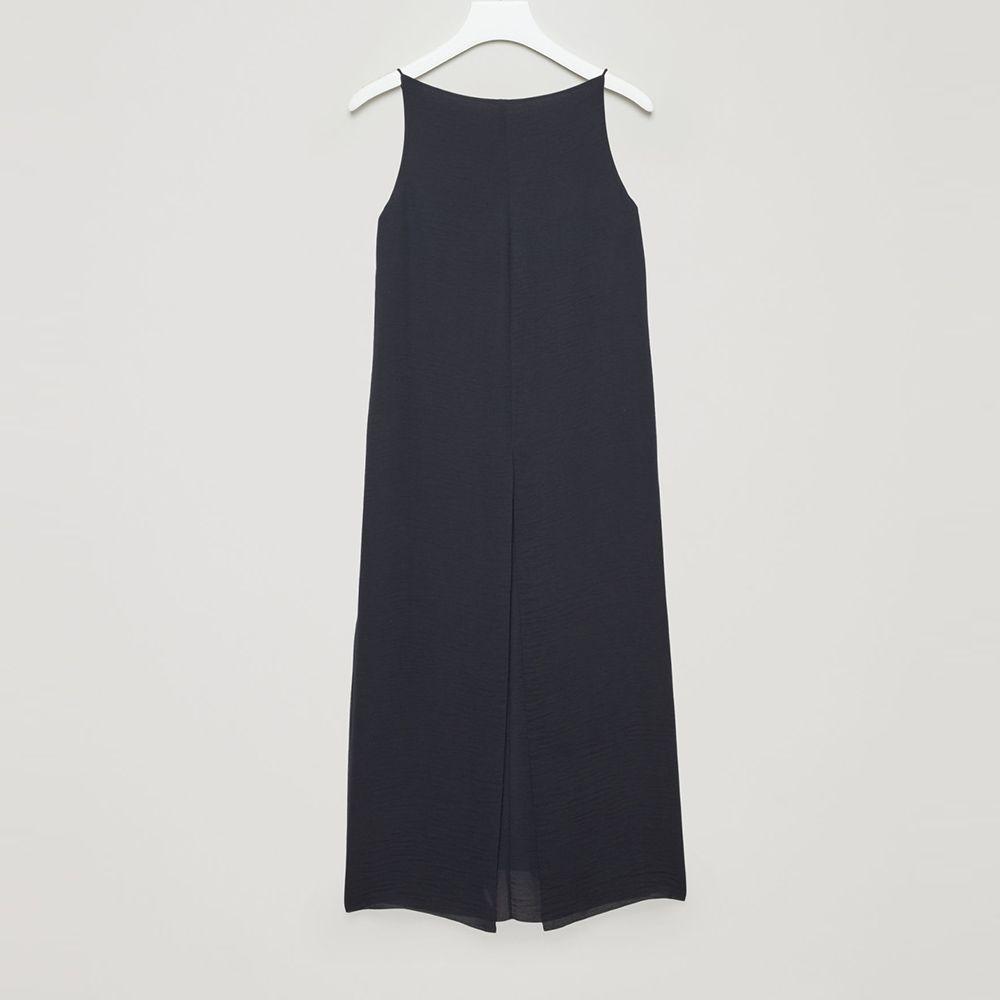 cos navy sleeveless dress