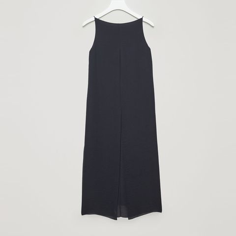 cos navy sleeveless dress