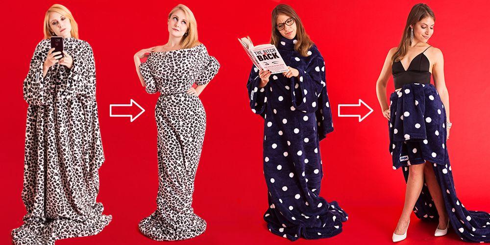 2b16e71a52 8 Chic Ways to Wear A Slanket