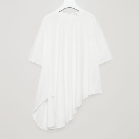 cos circle cut poplin top