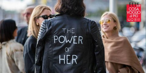 Jacket, Street fashion, Leather jacket, Leather, Blond, Fashion, Outerwear, Human, Textile, Top,