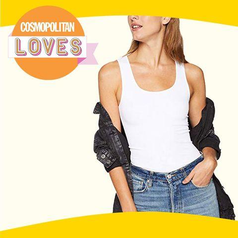 Clothing, Waist, Shoulder, Yellow, Neck, Arm, Outerwear, Sleeveless shirt, Sleeve, Joint,