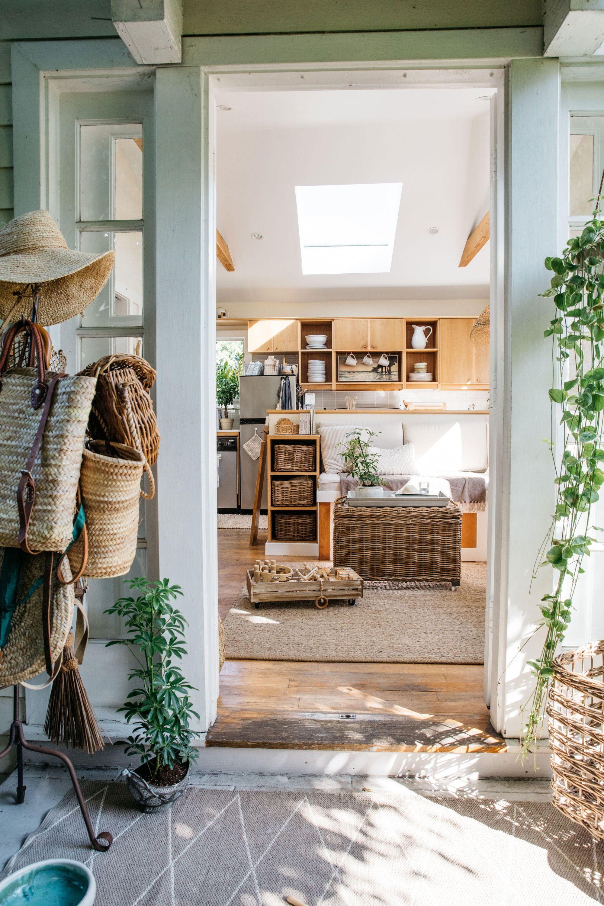 Image. The Tiny Canal Cottage Is Full Of Wicker Baskets U2014 A Great Storage  Solution, Which Also Blends Into The Wood And White Design Aesthetic.