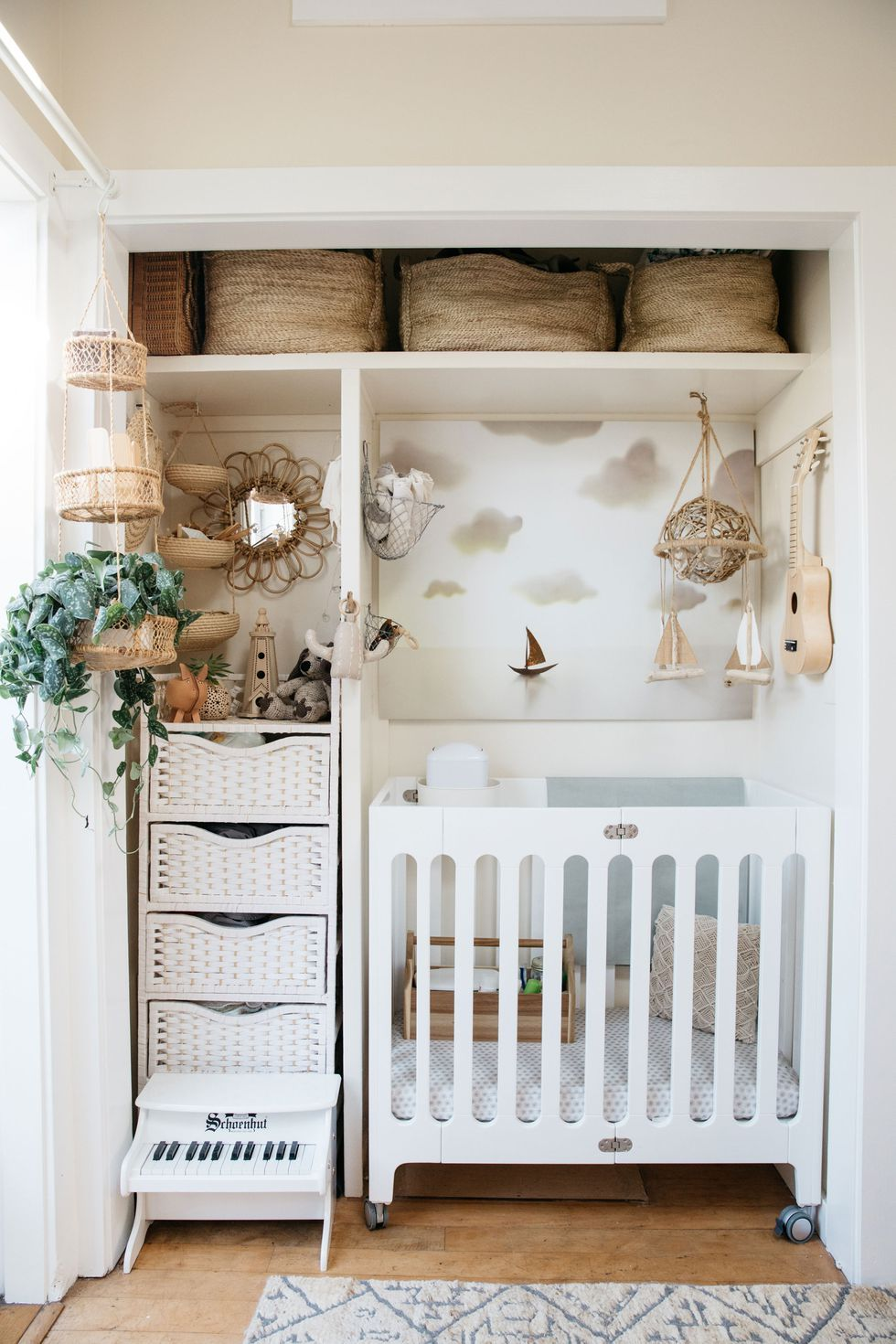 Exceptionnel A Hall Closet, Which Used To Store Clothing For The Couple, Is Now A Tiny  Nursery For Their Son. Baby Clothes And Necessities Like Diapers Are Stored  In The ...