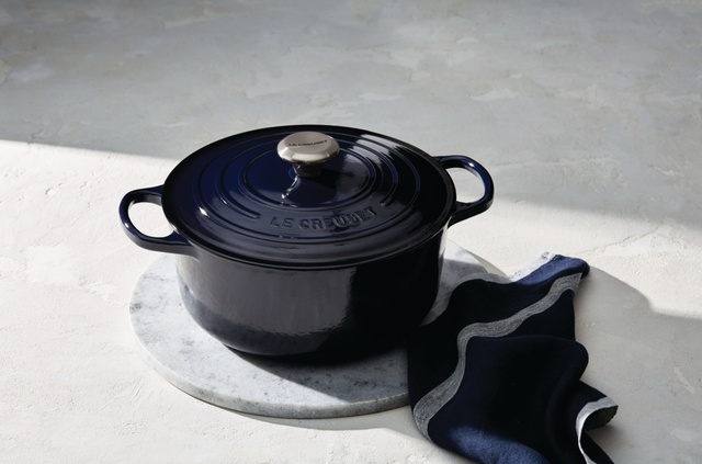 deep blue colored pot