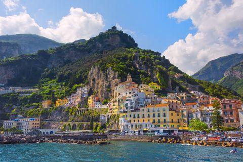 Mapa para un viaje por la costa amalfitana - Qué ver y hacer en los mejores pueblos y hoteles