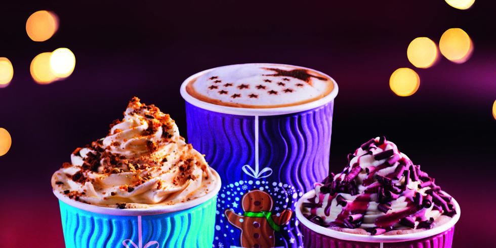Costa Christmas coffee cups