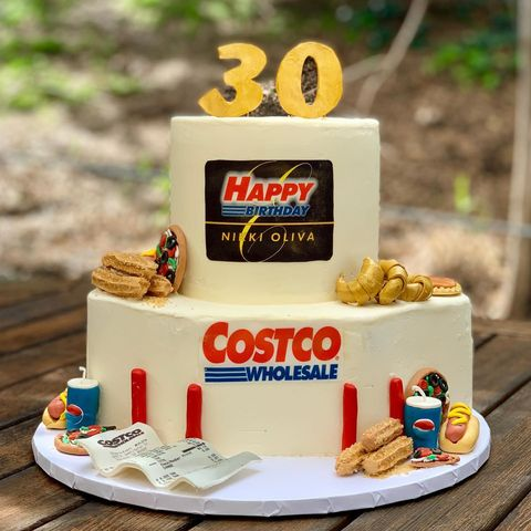 Astounding This Costco Birthday Cake Is So Spot On Funny Costco Themed Personalised Birthday Cards Veneteletsinfo