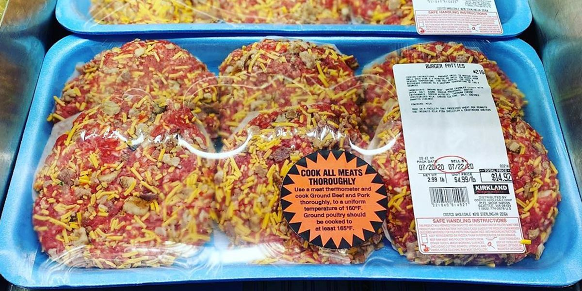 Costco Is Selling Bacon Cheddar Cheese Burgers, So Fire Up the Grill