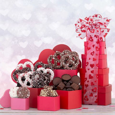 Costco's $30 Valentine's Day Chocolate Tower Comes With More Than A Pound Of Chocolate