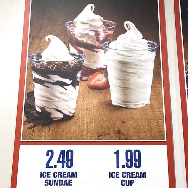 ice cream sundaes at costco's food court