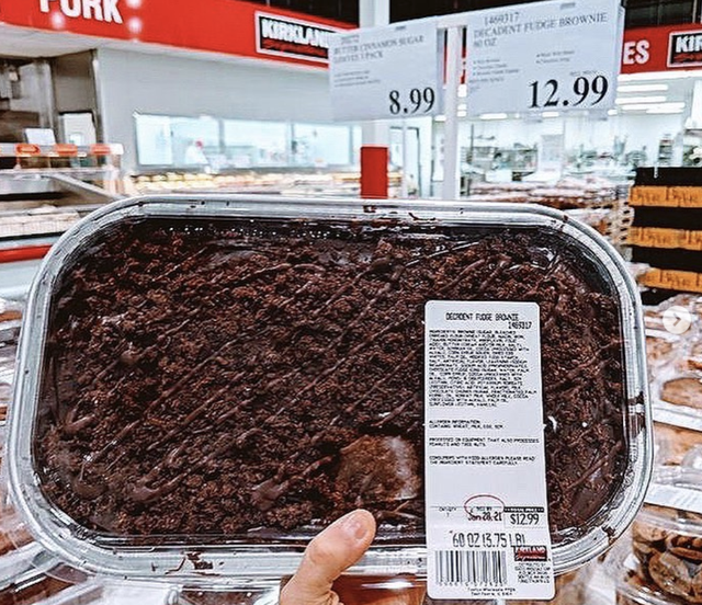 costco fudge brownie platter