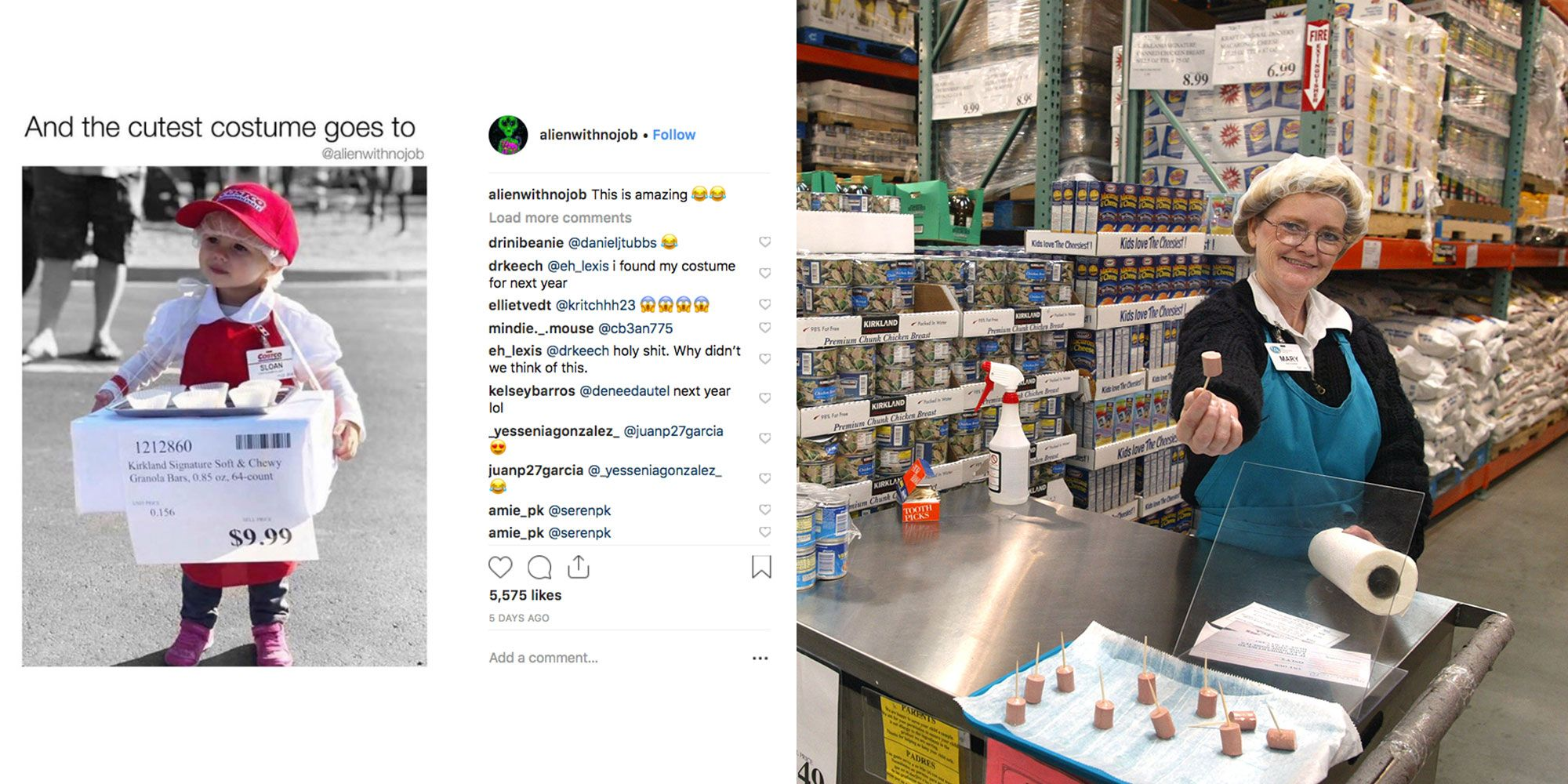 This Kid\'s Costco Sample Person Costume Is The Cutest Halloween ...