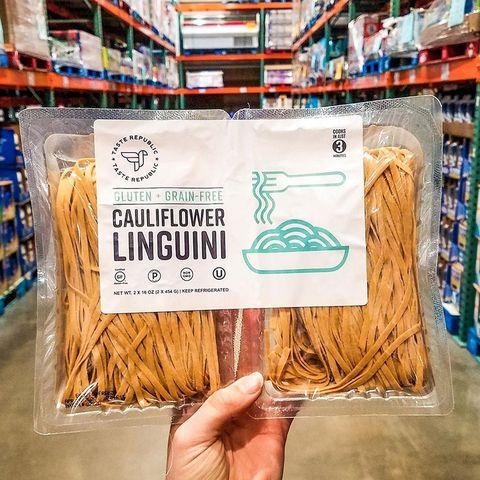taste republic's cauliflower linguini pasta at costco