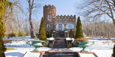 Stairs, Winter, Snow, Garden, Freezing, Conifer, Courtyard, Evergreen, Landscaping, Fir,