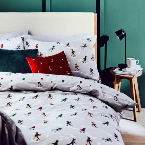 cotton rich penguin bedding set