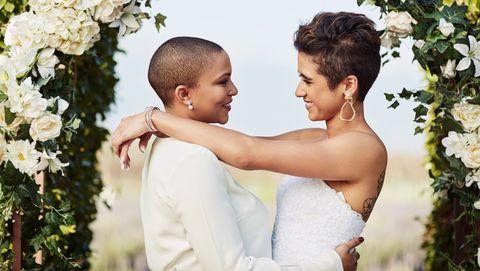 twee vrouwen die trouwen