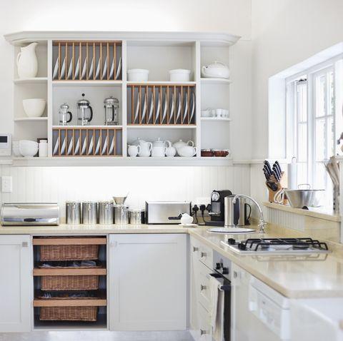 Counter tops in modern kitchen