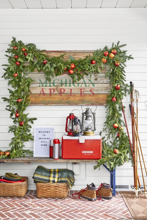 country christmas decorations garland apple