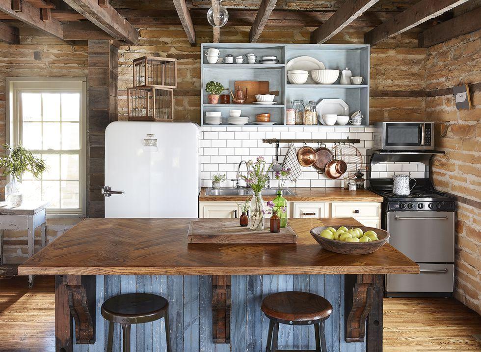 country kitchen ideas reclaimed & 100+ Kitchen Design Ideas - Pictures of Country Kitchen Decorating ...