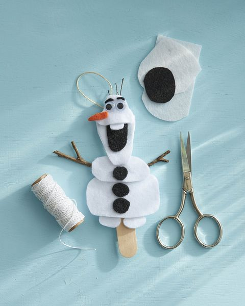 felt olaf ornament