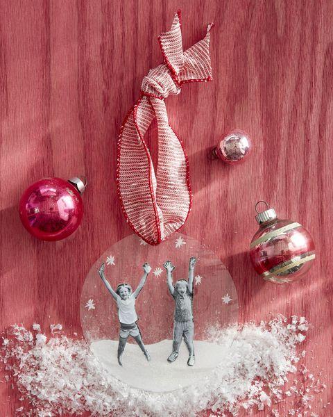 glistening snow ornament