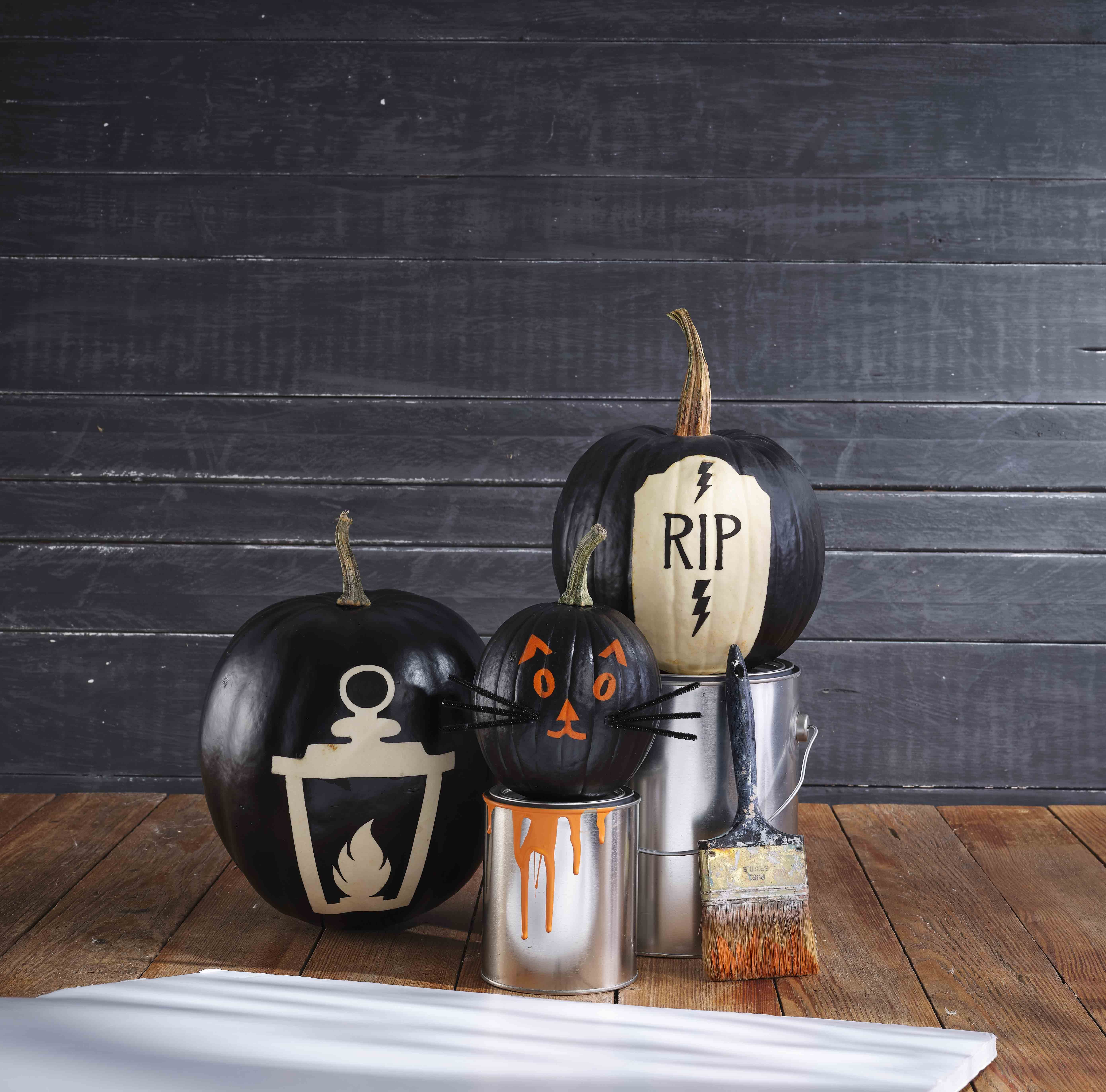 65 Easy Painted Pumpkins Ideas No Carve Halloween Pumpkin Painting Decorating Ideas