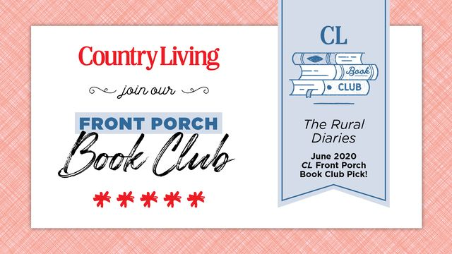 an image announcing the country living front porch book club