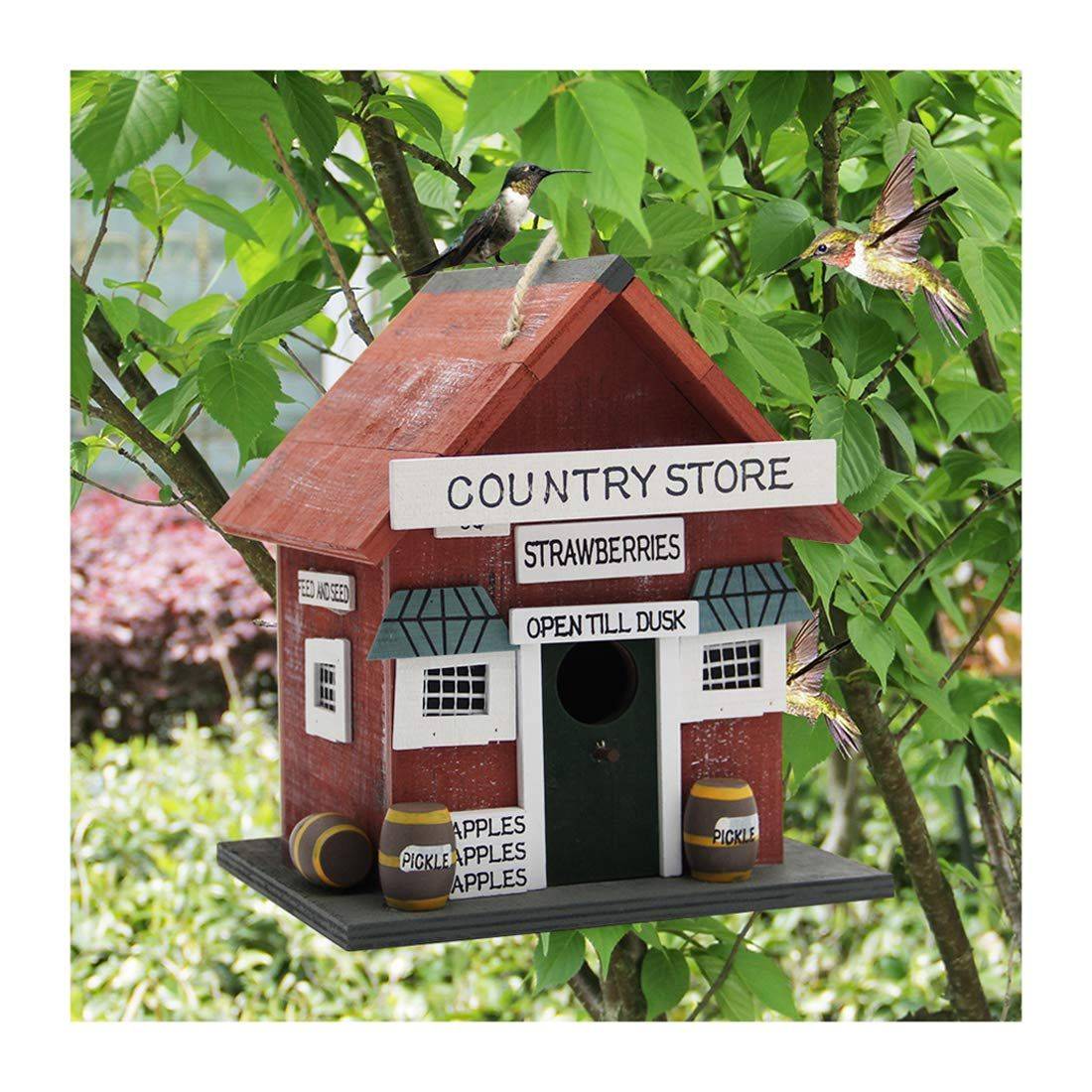 This Adorable Country Store Birdhouse Is Available on Amazon for Only $16