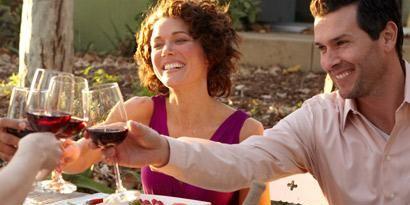 Smile, Stemware, Glass, Food, Tableware, Drink, Cuisine, Wine glass, Happy, Dishware,