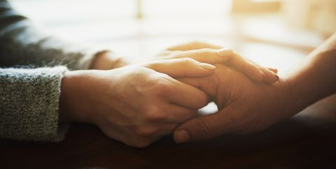 couple holding handsovarian cancer diagnosis