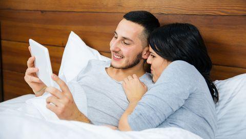stel leest in bed