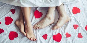 Couple in bedroom.