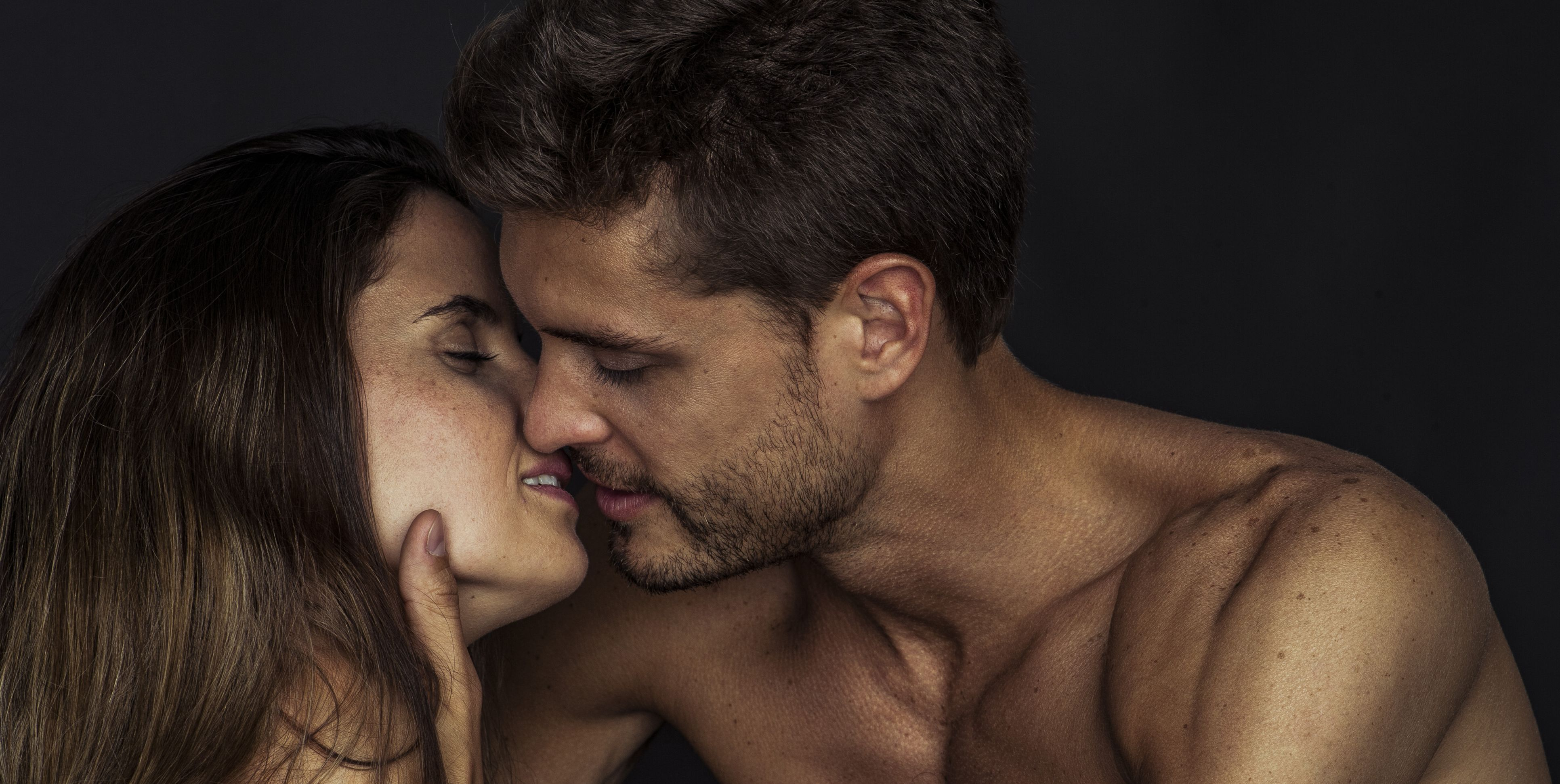 Couple preparing to kiss