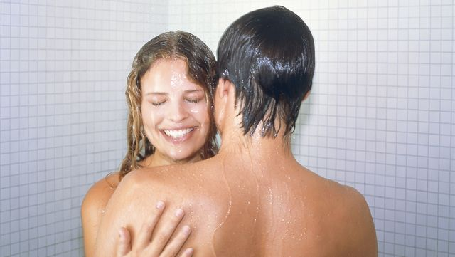 couple taking a shower together
