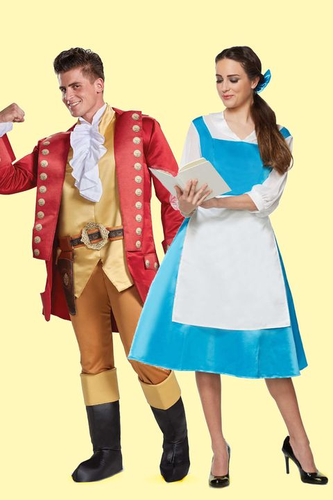 gaston and belle halloween costumes for couples