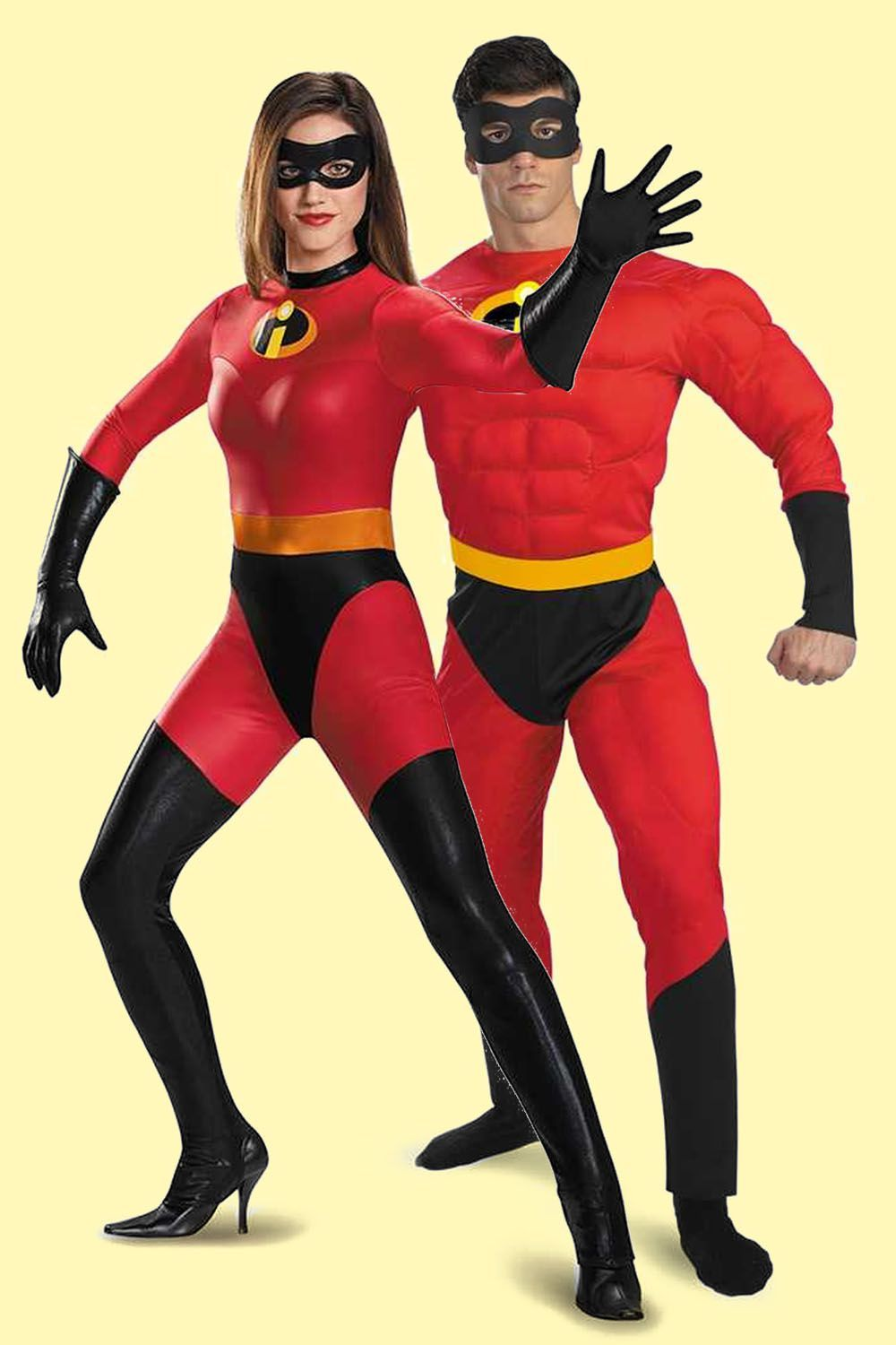 Elastigirl and Mr. Incredible Halloween Costumes for Couples