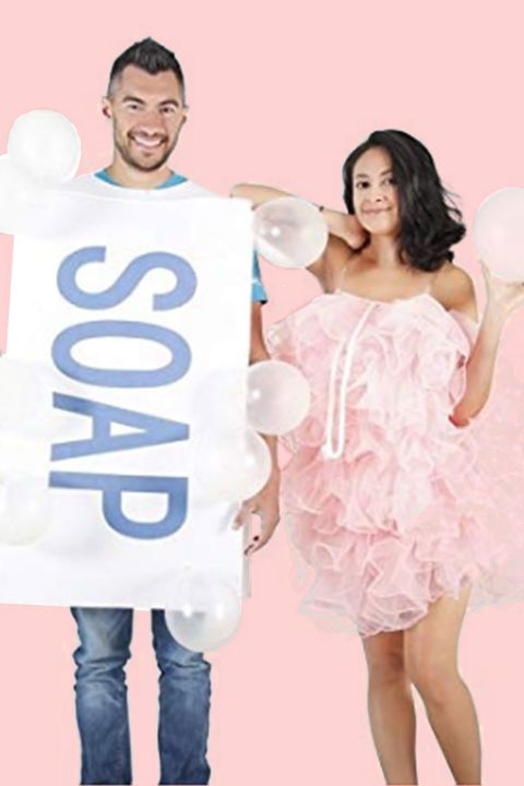 soap and loofah halloween costumes for couples