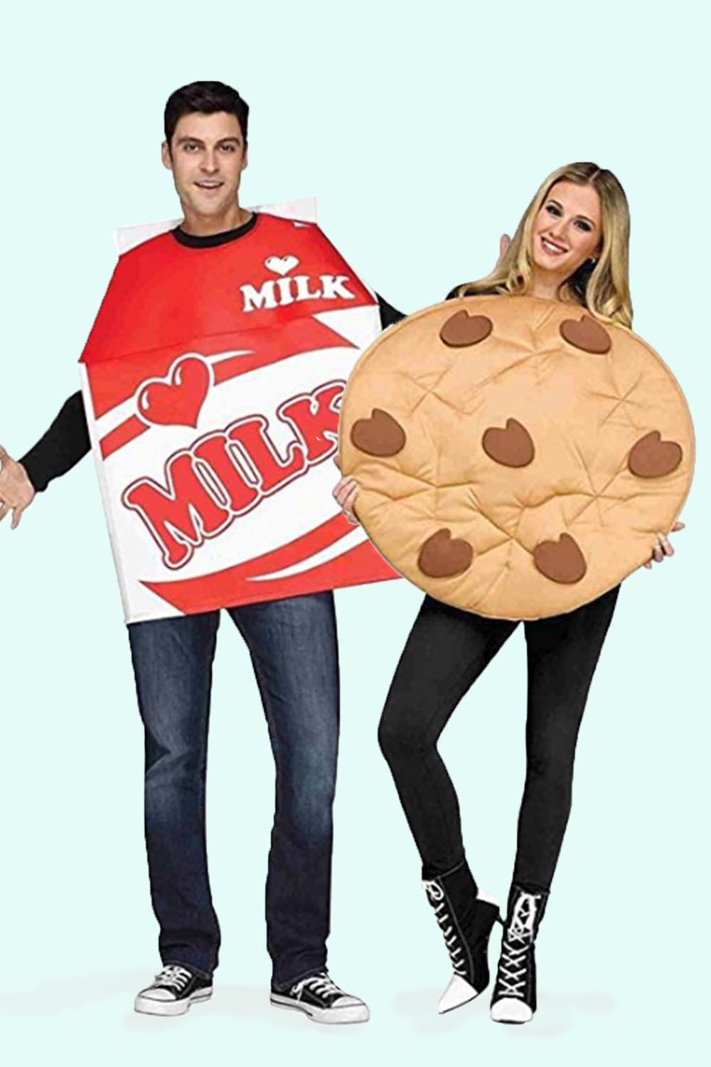 milk and cookies couples costume  sc 1 st  Good Housekeeping & 50+ Cute Halloween Costumes for Couples 2018 - Best Ideas for ...