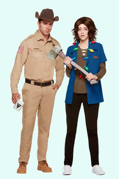 joyce byers and jim hopper halloween costumes for couples
