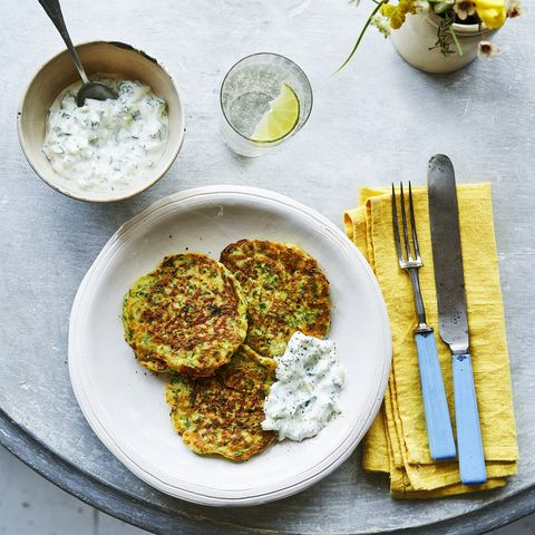 courgette mint cheese fritters