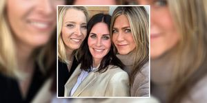Courteney Cox celebrated her birthday with Friends co-stars Lisa Kudrow and Jennifer Aniston
