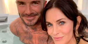 courteney cox david beckham instagram